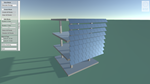 Solar radiation management with different shadings based on the orientation of the plugged-in lightweight structures.